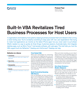 Built-In VBA Revitalizes Tired Business Processes for Host Users