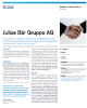 Julius Bar Gruppe AG Success Story