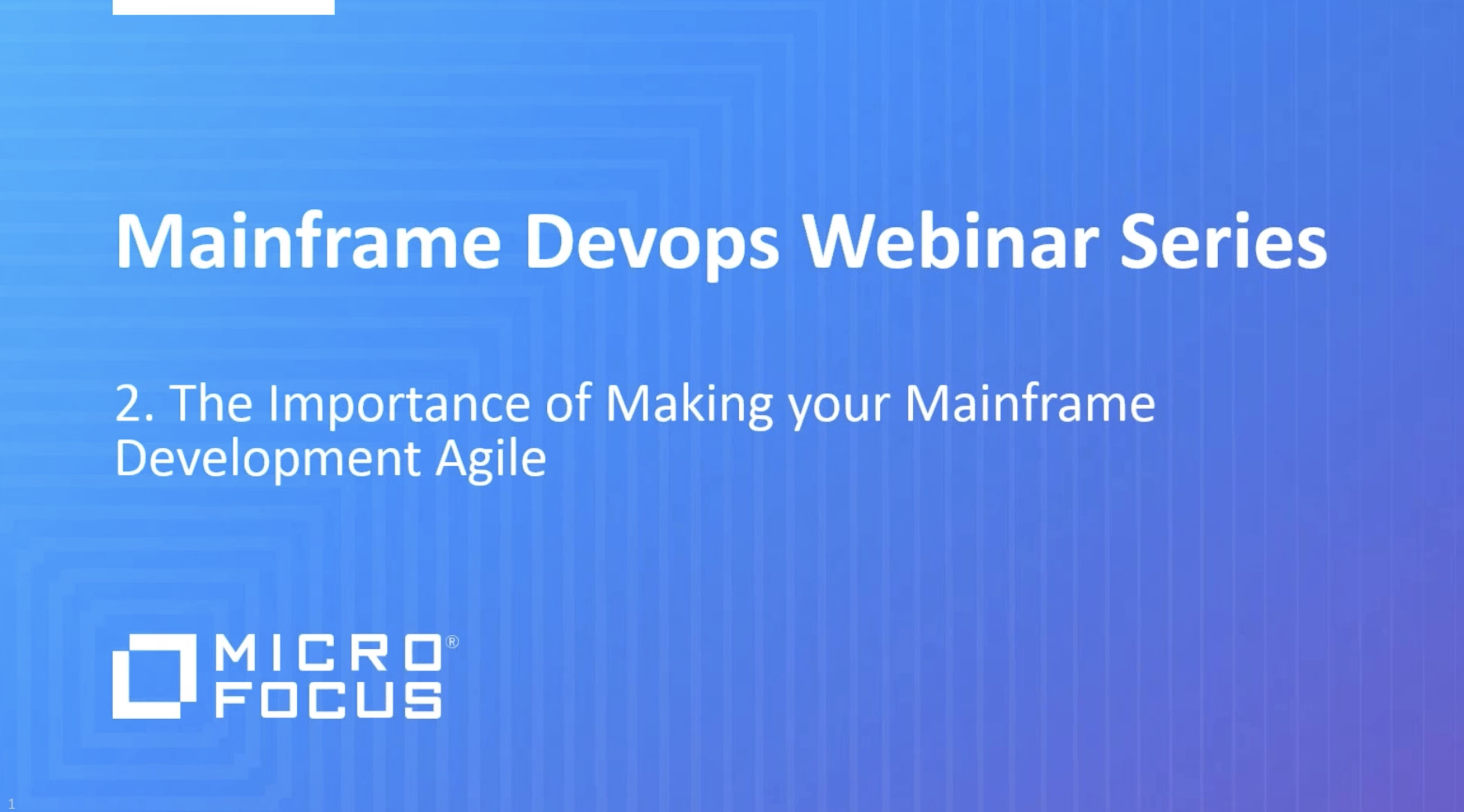 The Importance of Making your Mainframe Development Agile