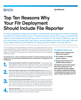 Top Ten Reasons Why Your Filr Deployment Should Include File Reporter