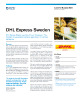 DHL Express Sweden Success Story