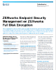 ZENworks Endpoint Security Management and ZENworks Full Disk Encryption Flyer