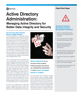 Active Directory Administration: Managing active directory for better data integrity and security