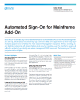 Automated Sign-On for Mainframe Add-On Data Sheet