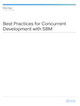 Best Practices for Concurrent Development with SBM