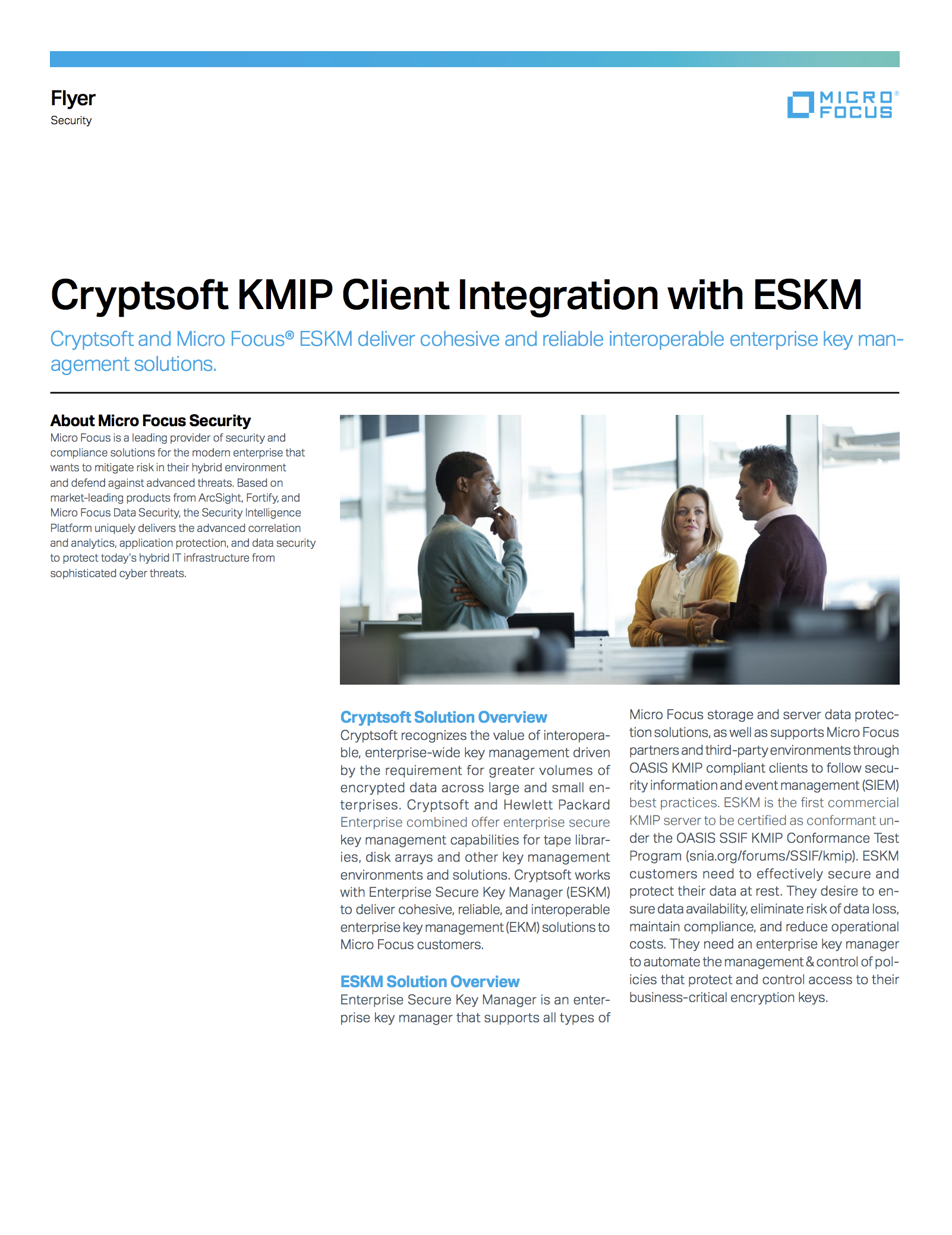 Cryptsoft KMIP Client Integration with ESKM
