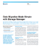 Data Migration Made Simple With Storage Manager Product Flyer