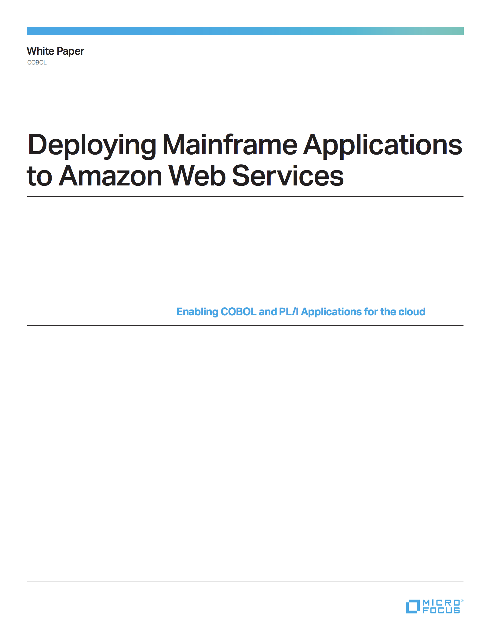 Deploying Mainframe Applications to Amazon Web Services