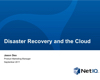 Disaster Recovery Planning and the Cloud