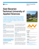 East Bavarian Technical University of Applied Sciences Success Story