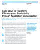 Eight Ways to Transform Efficiency and Productivity through Application Modernization
