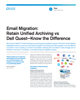 Email Migration: Retain Unified Archiving vs Dell Quest—Know the Difference