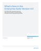 What's New in the Enterprise Suite Version 4.0