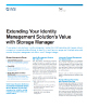 Extending Your Identity Management Solutions Value with Storage Manager Product Flyer
