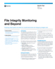 File Integrity Monitoring and Beyond Solution Brief