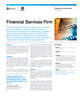 Financial Service Firm Success Story