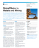 Global Major in Metals and Mining