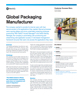 Global Packaging Manufacturer Success Story