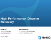 High–performance disaster recovery: Beat your RPO/RTO targets for less