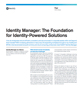 Identity Manager: The Foundation for Identity-Powered Solutions Flyer