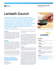 Lambeth Council Success Story