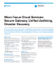 Micro Focus Cloud Services: Secure Gateway, Unified Archiving, Disaster Recovery