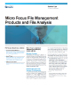 Micro Focus File Management Products and File Analysis