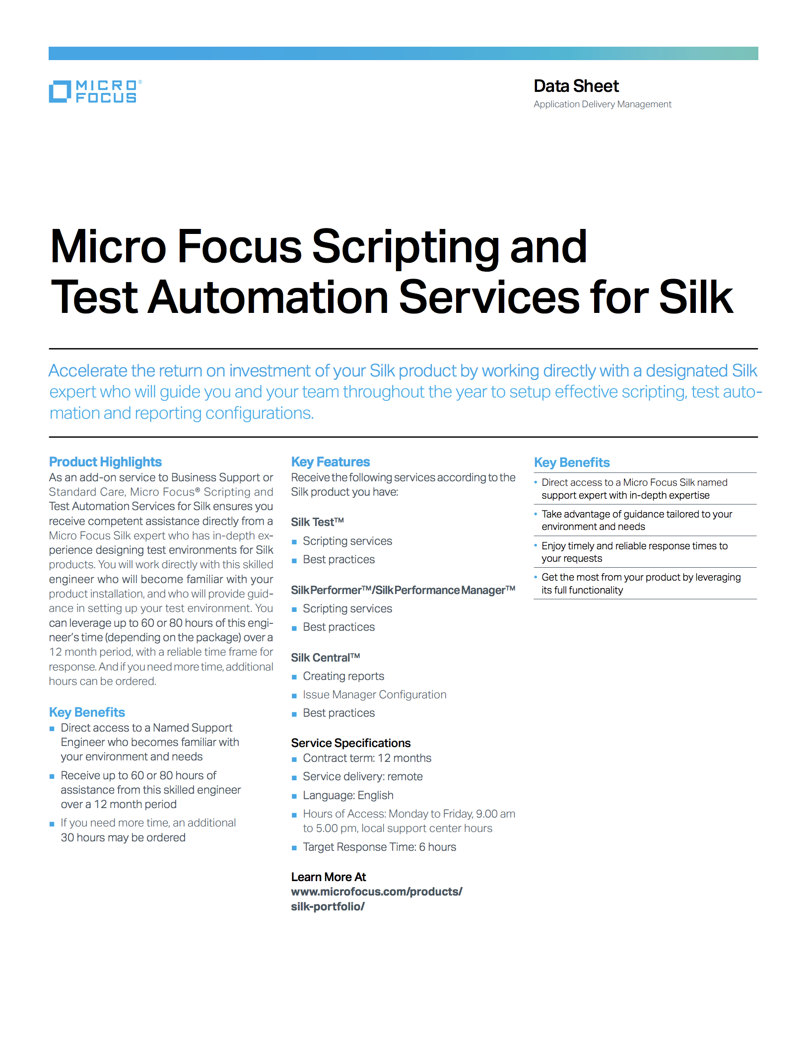 Micro Focus Scripting and Test Automation Services for Silk