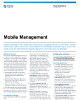 Mobile Management Data Sheet