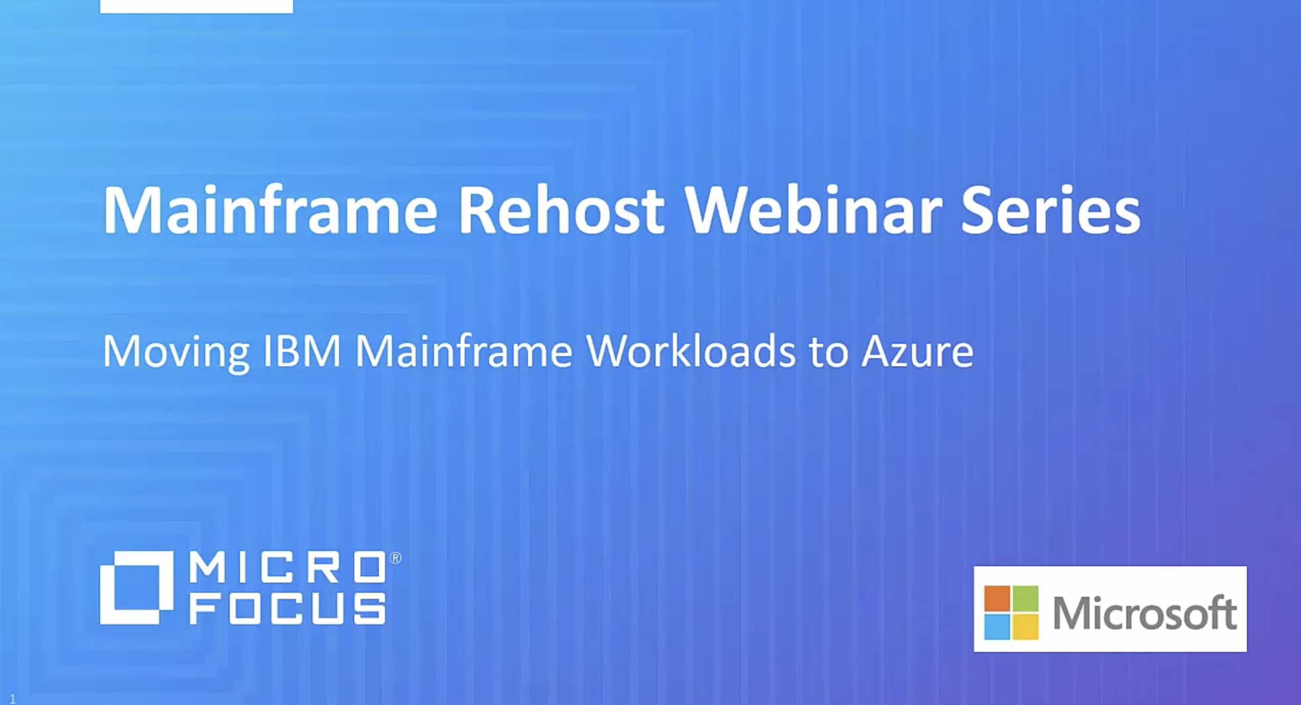 Moving IBM Mainframe Workloads to Azure