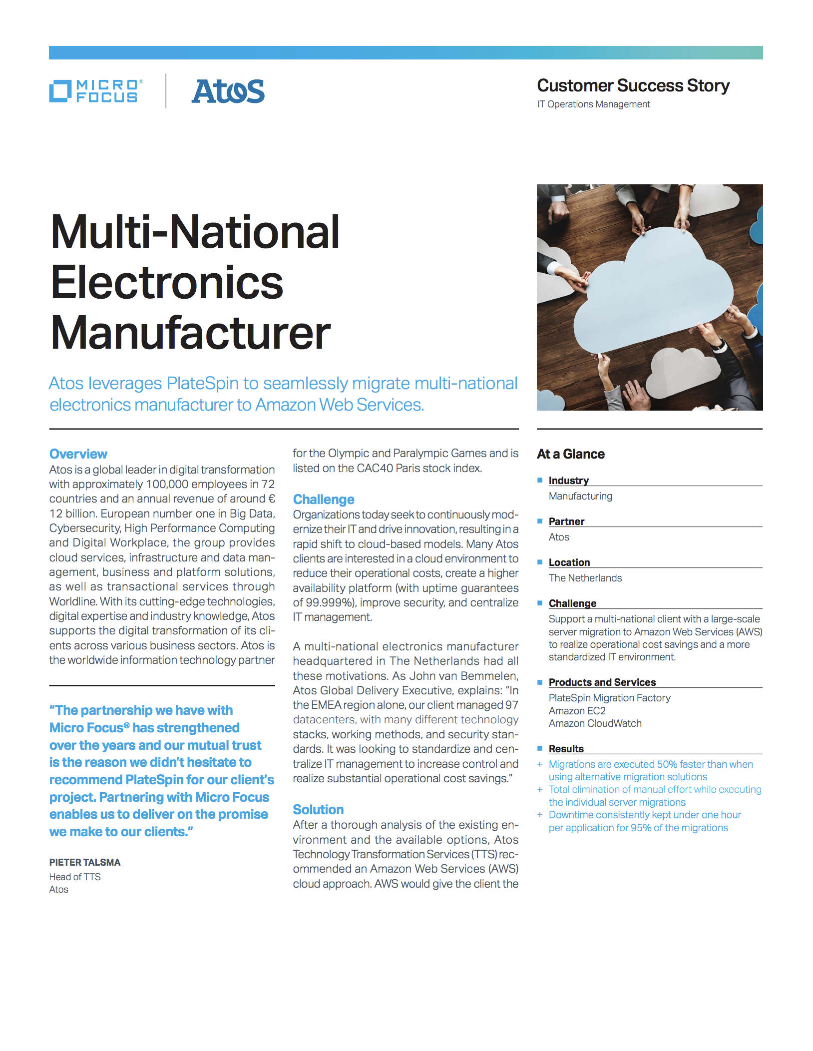 Multi-national Electronics Manufacturer