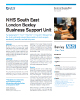 NHS South East London Bexley Business Support Unit Success Story