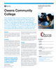 Owens Community College Success Story
