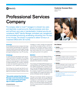 Professional Services Company Success Story