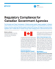 Regulatory Compliance for Canadian Government Agencies