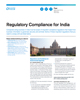 Regulatory Compliance for India