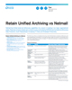 Retain Unified Archiving vs Netmail