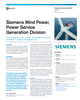 Siemens Wind Power, Power Service Generation Division