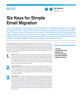 Six Keys for Simple Email Migration