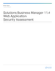 Solutions Business Manager 11.4 Web Application Security Assessment