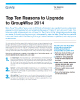 Top Ten Reasons to Upgrade to GroupWise 2014