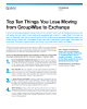 Top Ten Things You Lose Moving From GroupWise to Exchange