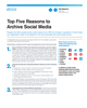 Top Five Reasons to Archive Social Media