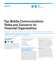 Top Mobile Communications Risks and Concerns for Financial Organizations