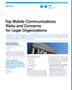 Top Mobile Communications Risks and Concerns for Legal Organizations