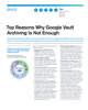 Top Reasons Why Google Vault Archiving Is Not Enough