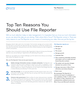 Top Ten Reasons You Should Use File Reporter