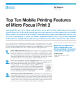 Top Ten Mobile Printing Features of Micro Focus iPrint