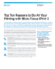 Top Ten Reasons to Do All Your Printing with Micro Focus iPrint