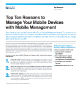 Top Ten Reasons to Manage Your Mobile Devices with Mobile Management